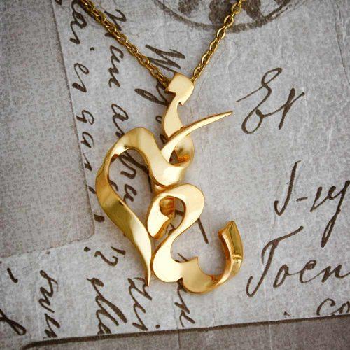 گردنبند طلا اسم سمانه