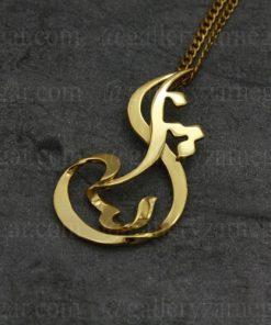 گردنبند پلاک اسم ثنا طلا