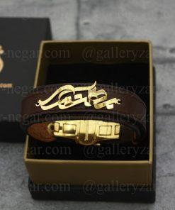 دستبند طلا اسم بهنام